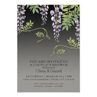 Ducha floral de los pares de las glicinias del anuncio personalizado