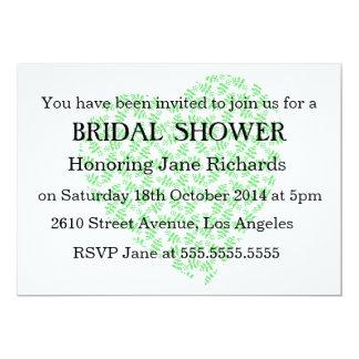 """Ducha floral verde del boda de la primavera invitación 5"""" x 7"""""""
