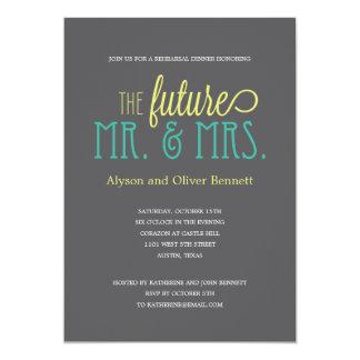 Ducha futura de Sr. y de señora Rehearsal Dinner Invitación 12,7 X 17,8 Cm