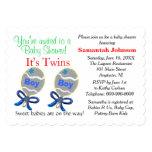 Ducha gemela de los traqueteos de la estrella azul comunicado personalizado
