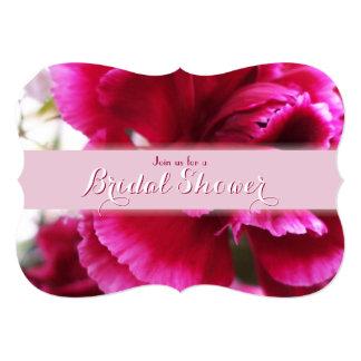 """Ducha nupcial 1 del clavel rosado brillante invitación 5"""" x 7"""""""