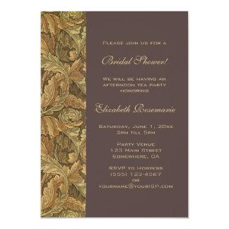 Ducha nupcial antigua de las hojas de otoño del invitación 12,7 x 17,8 cm