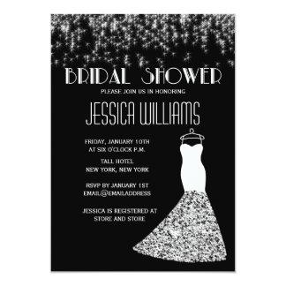Ducha nupcial atractiva de las luces blancos y invitación 12,7 x 17,8 cm
