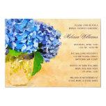 Ducha nupcial azul del tarro de albañil de la invitación 12,7 x 17,8 cm