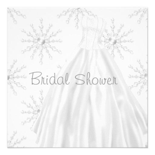 Ducha nupcial blanca del vestido de boda de los co comunicados personalizados