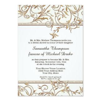 Ducha nupcial de Hollywood del oro viejo atractivo Invitación 12,7 X 17,8 Cm