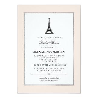 """Ducha nupcial de la elegancia de París Invitación 5"""" X 7"""""""