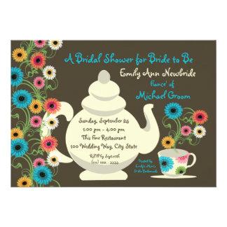 Ducha nupcial de la fiesta del té del jardín anuncio