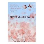 Ducha nupcial de la flor de cerezo y de los tragos invitacion personalizada