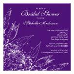 Ducha nupcial de la flor púrpura elegante del liri comunicado