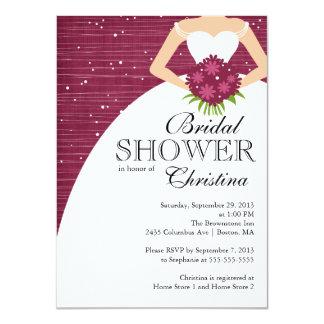 Ducha nupcial de la novia hermosa moderna invitación 11,4 x 15,8 cm