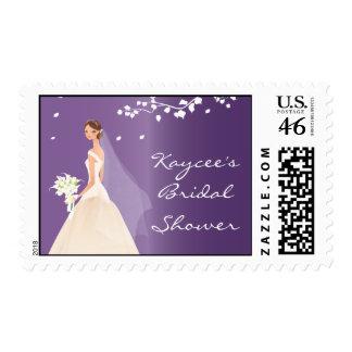Ducha nupcial de la novia púrpura elegante