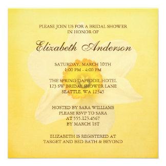 Ducha nupcial de la primavera de la flor amarilla invitaciones personales