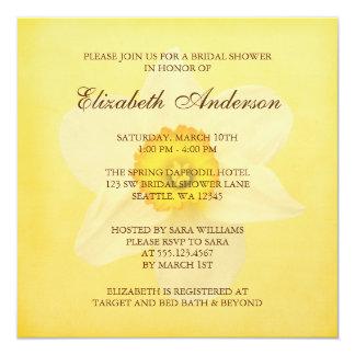 """Ducha nupcial de la primavera de la flor amarilla invitación 5.25"""" x 5.25"""""""