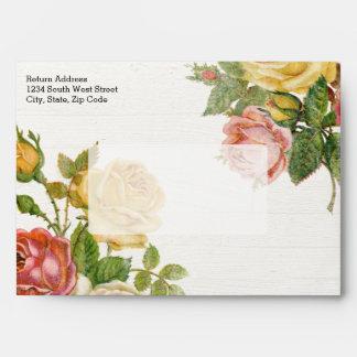 Ducha nupcial de la primavera floral de la lechada sobres