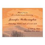 Ducha nupcial de la puesta del sol del otoño invitación 12,7 x 17,8 cm