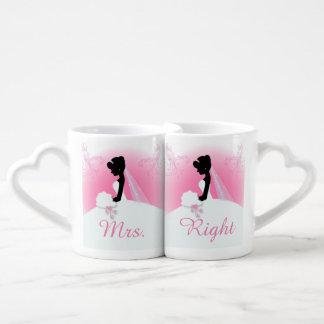 ducha nupcial de la silueta rosada moderna de la tazas amorosas