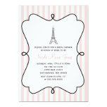 Ducha nupcial de la torre Eiffel rosada de París Anuncios