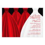 Ducha nupcial de las damas de honor del vestido ro invitación personalizada