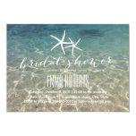 Ducha nupcial de las estrellas de mar de la playa invitaciones personales