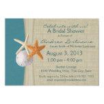 Ducha nupcial de las estrellas de mar rústicas del invitación