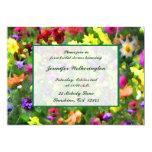 Ducha nupcial de las impresiones florales invitación 12,7 x 17,8 cm