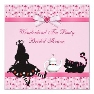 Ducha nupcial de los flamencos del rosa de la invitación 13,3 cm x 13,3cm