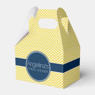 Ducha nupcial de los galones de los azules marinos caja para regalos