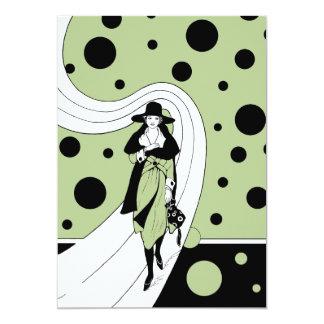Ducha nupcial de los lunares de la mujer del art comunicados personalizados