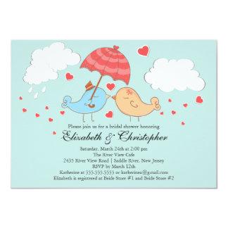 Ducha nupcial de los pájaros lindos del amor comunicado personal
