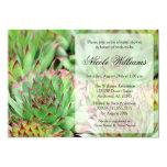 Ducha nupcial de los Succulents Invitación 12,7 X 17,8 Cm