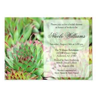 """Ducha nupcial de los Succulents Invitación 5"""" X 7"""""""