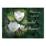 Ducha nupcial de los tulipanes blancos invitacion personal