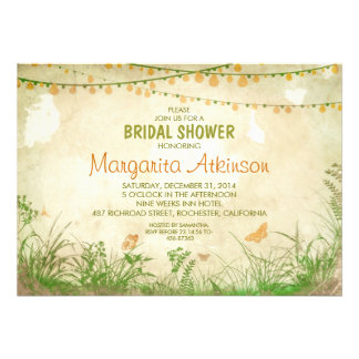 ducha nupcial de los wildflowers y de las luces de comunicados personales