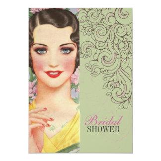 ducha nupcial de París de la moda de los remolinos Invitación 12,7 X 17,8 Cm