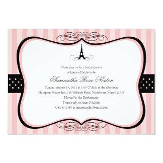 """Ducha nupcial de París de la torre Eiffel Invitación 5"""" X 7"""""""