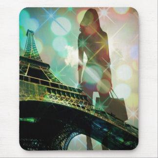 Ducha nupcial de París de la torre Eiffel moderna Alfombrilla De Ratones