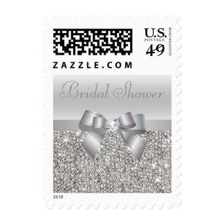 Ducha nupcial de plata de las lentejuelas, del franqueo