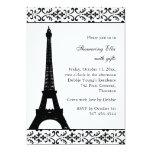 """Ducha nupcial de Tres París (blanca) Invitación 5"""" X 7"""""""