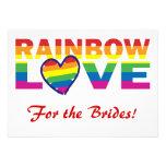 ¡Ducha nupcial del arco iris para las novias! Comunicado Personal