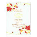 Ducha nupcial del boda amarillo rojo de las hojas invitacion personal