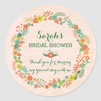 Ducha nupcial del boda de la guirnalda floral rúst