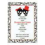 Ducha nupcial del boda negro rojo de Halloween de Invitación 12,7 X 17,8 Cm