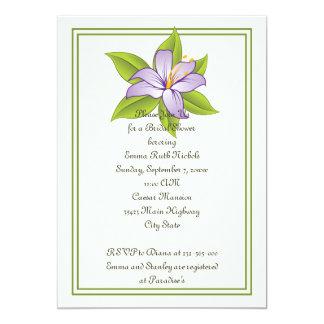 Ducha nupcial del boda púrpura de la lila del invitación 12,7 x 17,8 cm