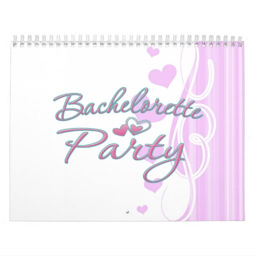 ducha nupcial del corazón del fiesta rosado del ba calendario de pared