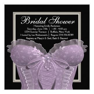 Ducha nupcial del corsé púrpura de la lavanda anuncios