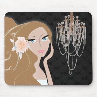 ducha nupcial del fashionista femenino elegante de alfombrillas de raton