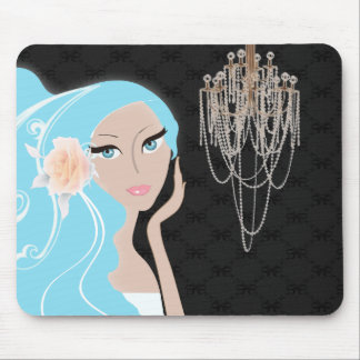 ducha nupcial del fashionista femenino elegante de tapetes de ratones