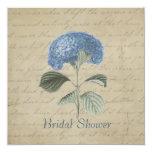 Ducha nupcial del Hydrangea azul del vintage Comunicado Personal