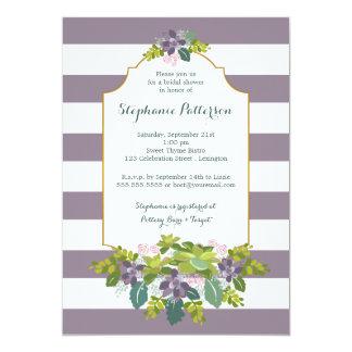 Ducha nupcial del jardín floral suculento dulce invitación personalizada